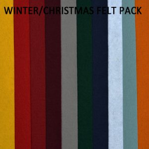 Winter/Christmas Tones Felt Pack