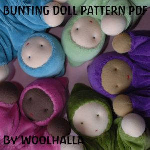 Bunting Baby Doll Pattern PDF WHP101