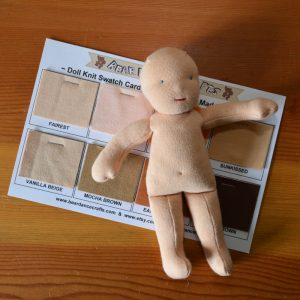 DOLL KNIT SWATCH CARD
