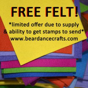 Free Felt! Get 12 Mini Felt Squares FREE!
