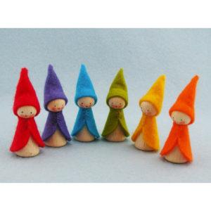 SIX RAINBOW GNOMES KIT PPK612