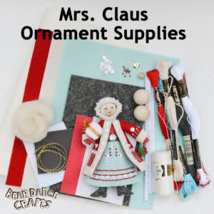 Mrs. Claus Ornament Supplies