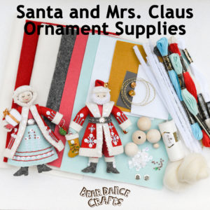 Santa and Mrs. Claus Ornament Supplies