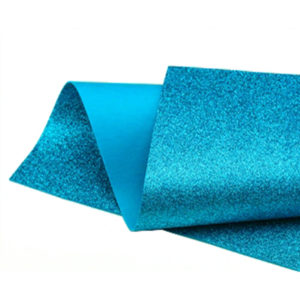Turquoise Glitter Wool Felt GWF009