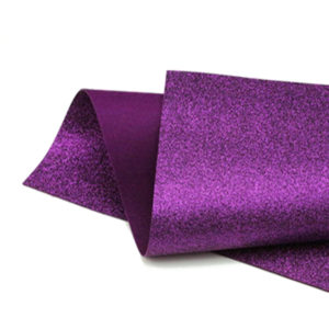 Purple Berry Glitter Wool Felt GWF024