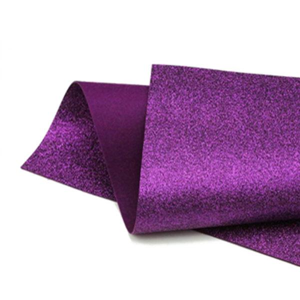 Purple Berry Glitter Felt