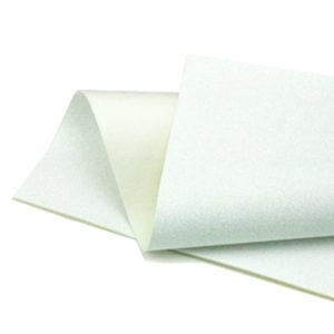Iridescent White Glitter Wool Felt GWF025