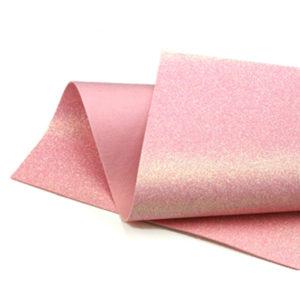 Iridescent Pink Glitter Wool Felt GWF028
