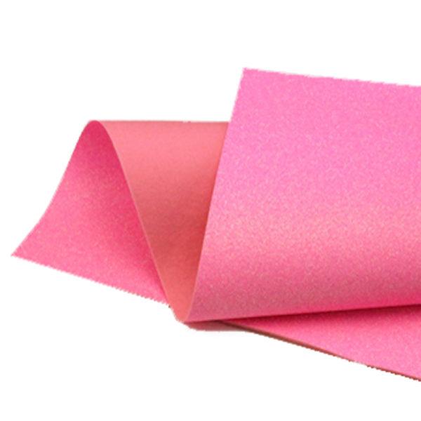 Iridescent Neon Pink Glitter Felt