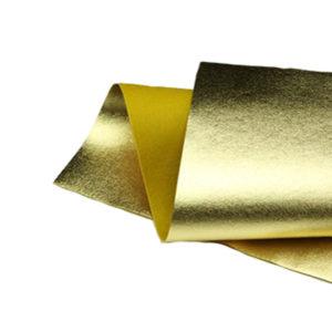 Brushed Gold Metallic Wool Felt WFM001