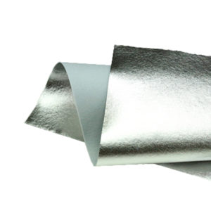 Brushed Silver Metallic Wool Felt WFM002