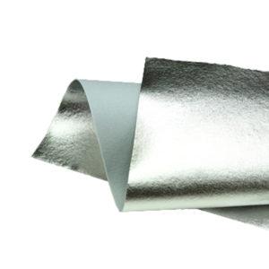 Brushed Silver Metallic Wool Felt WFM002