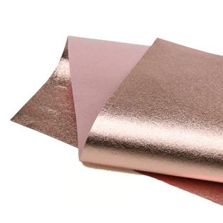 Rose Gold Metallic wool felt