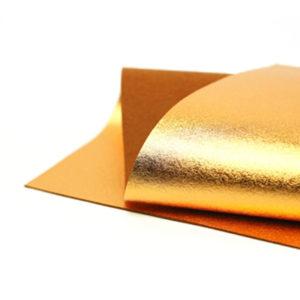 Brushed Copper Metallic Wool Felt WFM019