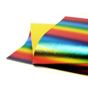 Brushed Rainbow Metallic Wool Felt WFM021