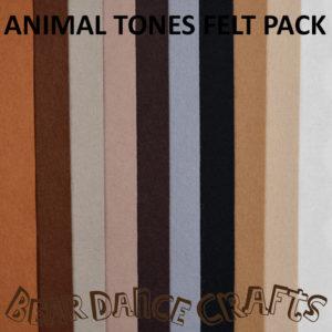 Animal Tones Felt Pack