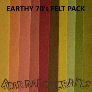 Earthy 70's Tones Felt Pack