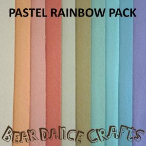 Pastel Rainbow Tones Felt Pack