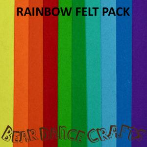 Rainbow Tones Felt Pack