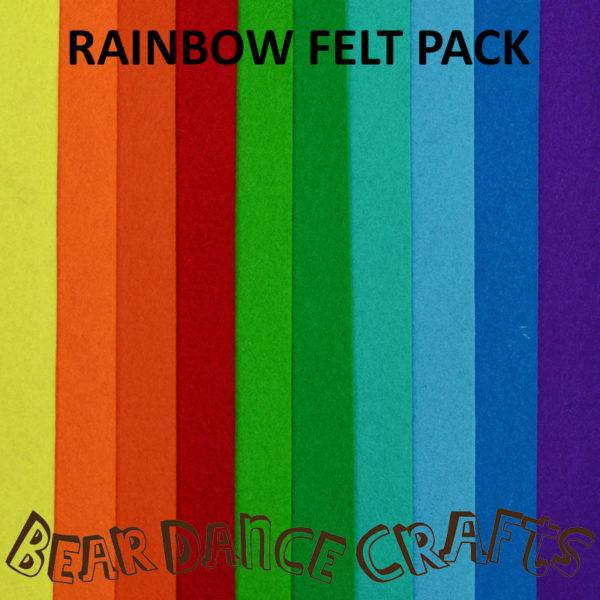 Rainbow Wool Felt