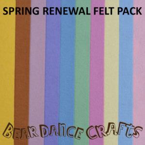 Spring Renewal Tones Felt Pack