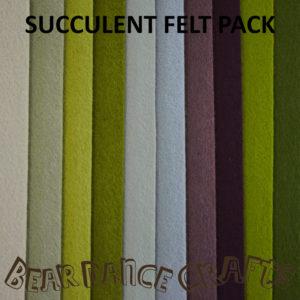 Succulent Tones Felt Pack
