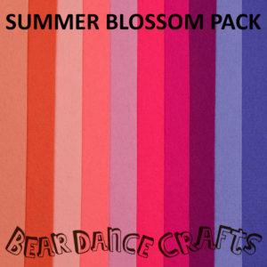 Summer Blossom Tones Felt Pack