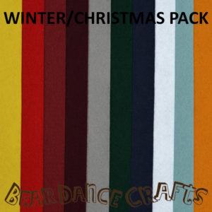 Winter/Christmas Tones Felt Pack
