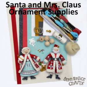 Santa and Mrs. Claus Ornament Supplies – more Bling