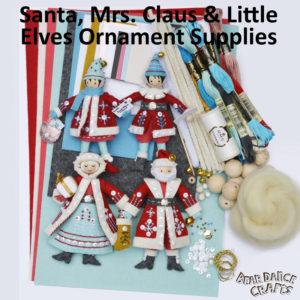 BOTH! Santa, Mrs. Claus & Little Elves Ornament Supplies – more bling!