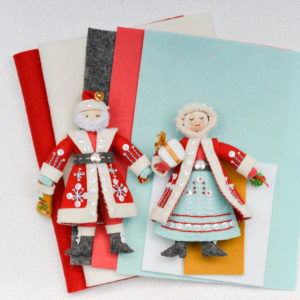 Santa and Mrs. Claus FELT ONLY Ornament Supplies