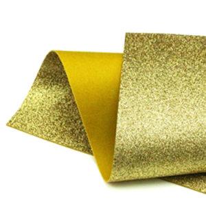 Gold Glitter Wool Felt GWF001