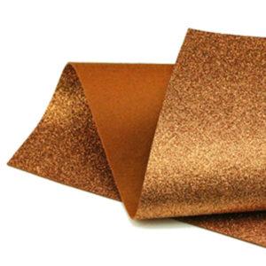 Copper Glitter Wool Felt GWF003