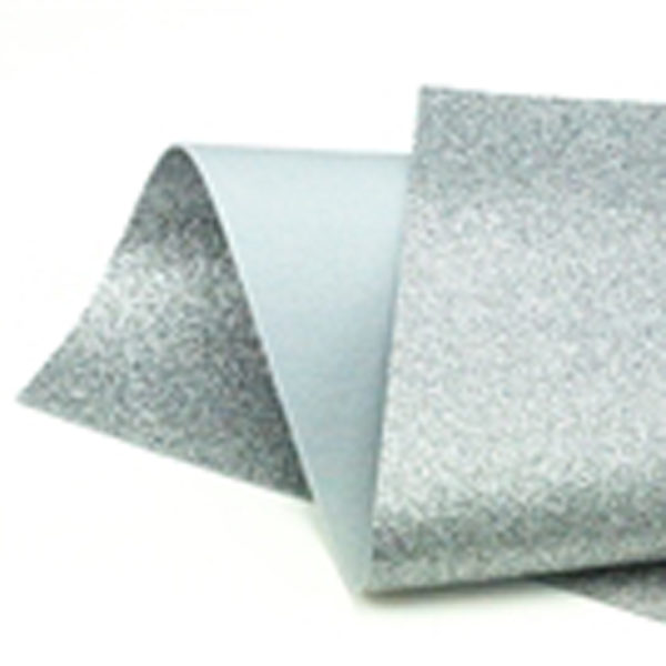 Silver Glitter Felt