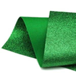 Green Glitter Wool Felt GWF014