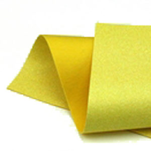Iridescent Yellow Glitter Wool Felt GWF026