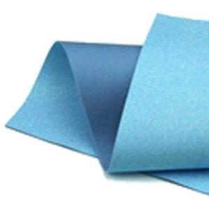 Iridescent Blue Glitter Wool Felt GWF031