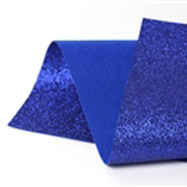 Royal Blue Glitter Wool Felt