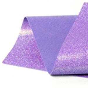Iridescent Violet Glitter Wool Felt GWF044