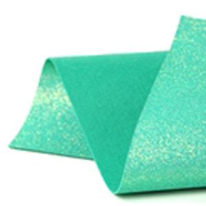 Iridescent Jade Glitter Wool Felt GWF046