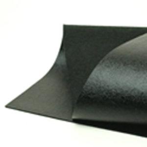 Brushed Black Metallic Wool Felt WFM009