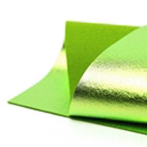 Brushed Spring Green Metallic Wool Felt WFM013