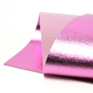 Brushed Bright Pink Metallic Wool Felt WFM015