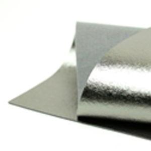 Brushed Gunmetal Metallic Wool Felt WFM018