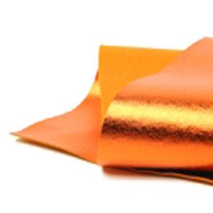 Brushed Orange Metallic Wool Felt WFM020