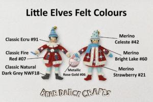 Little Elves Ornament Felt Colours