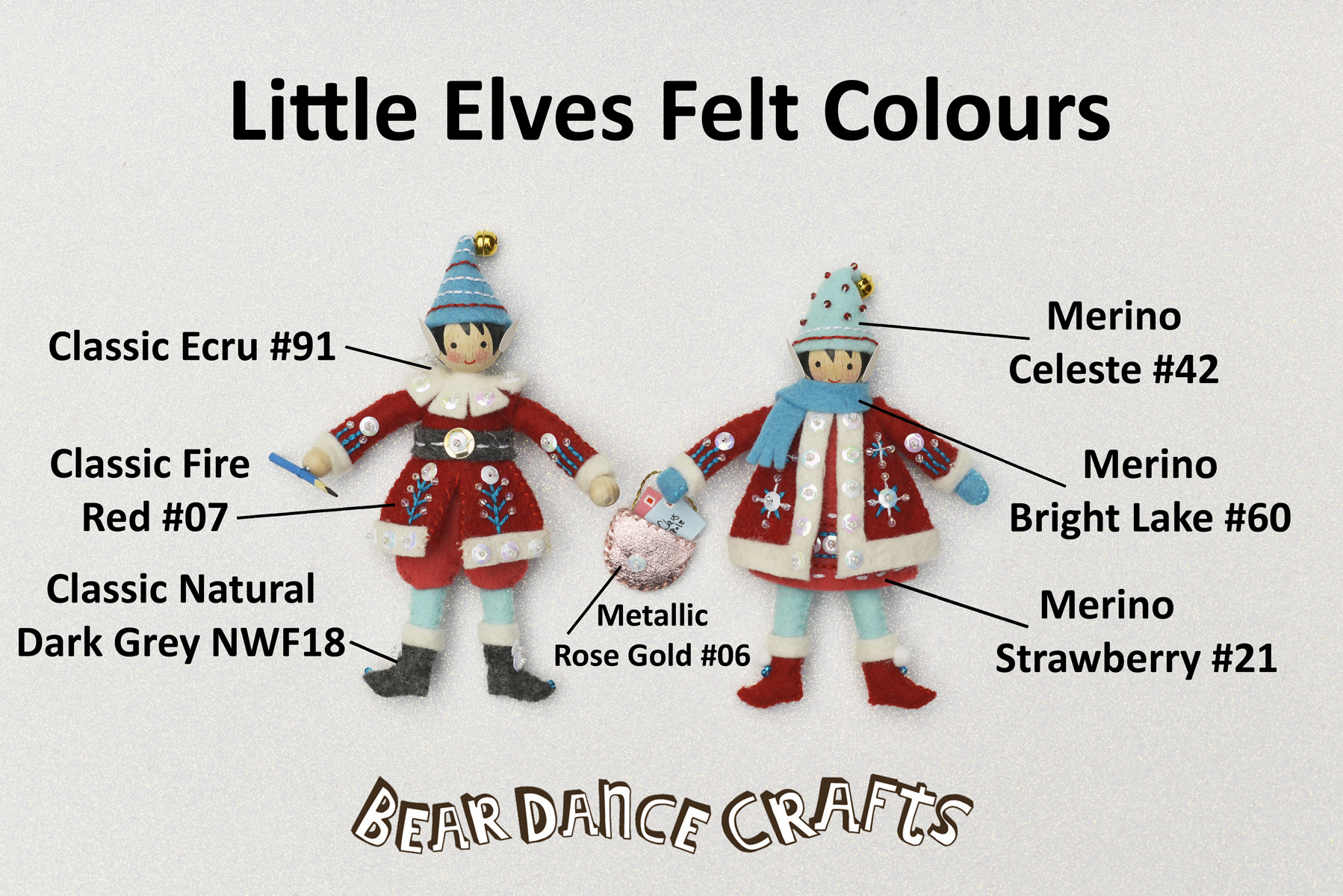You are currently viewing Little Elves Ornament Felt Colours