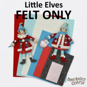 Little Elves FELT ONLY Ornament Supplies